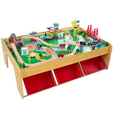 Kidkraft® Circuit de train cascade et montagne, bois 17850