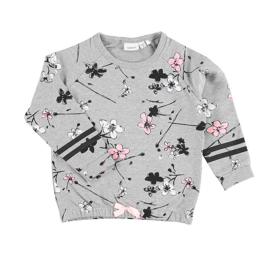 name it Girls Sweatshirt Nmfdalyna grey melange