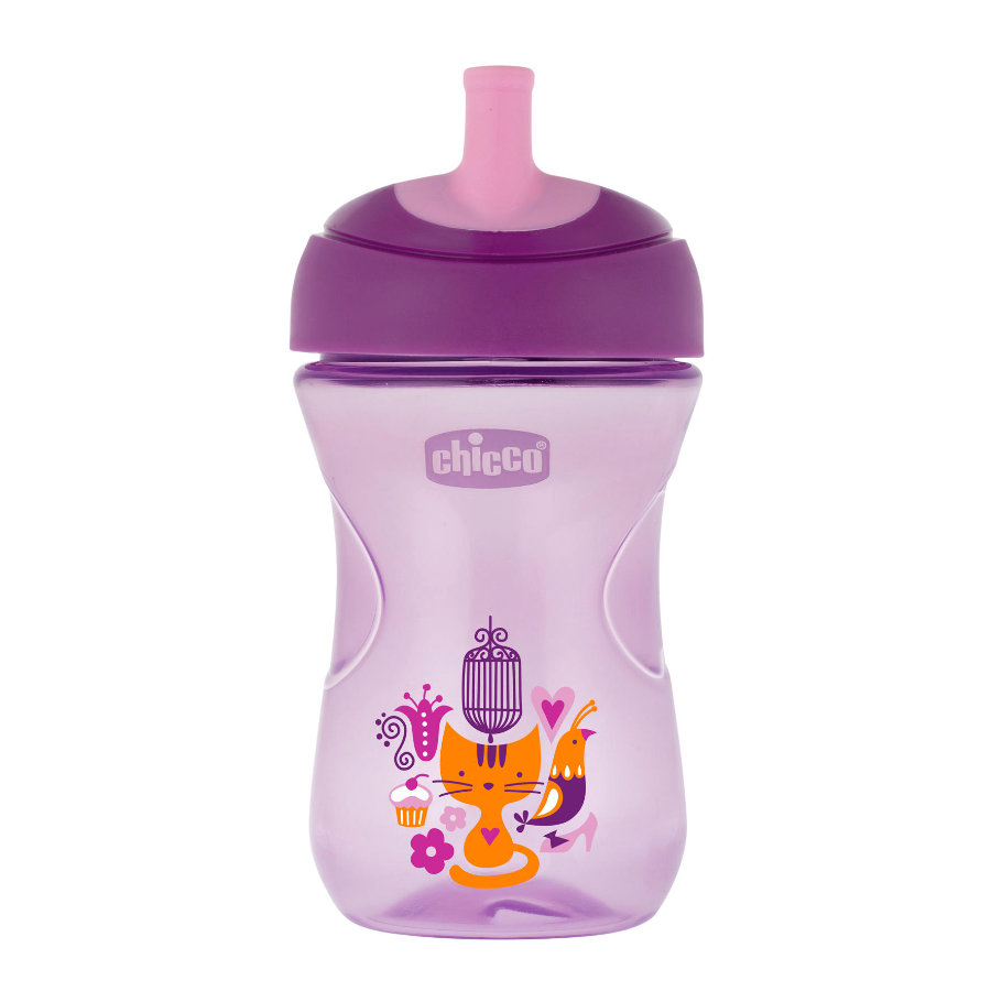 chicco Drinkbeker Advanced roze 12M+