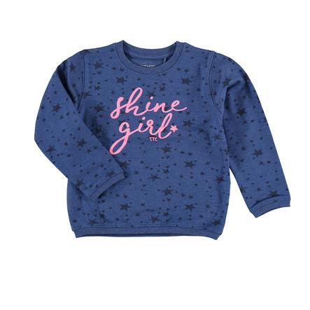 STACCATO Girl Sweatshirt w kolorze niebieskim, wzorzysty.