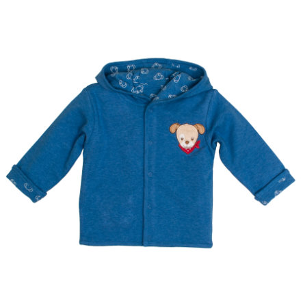 SALT AND PEPPER BabyGlück Sweatjacke allover blue melange