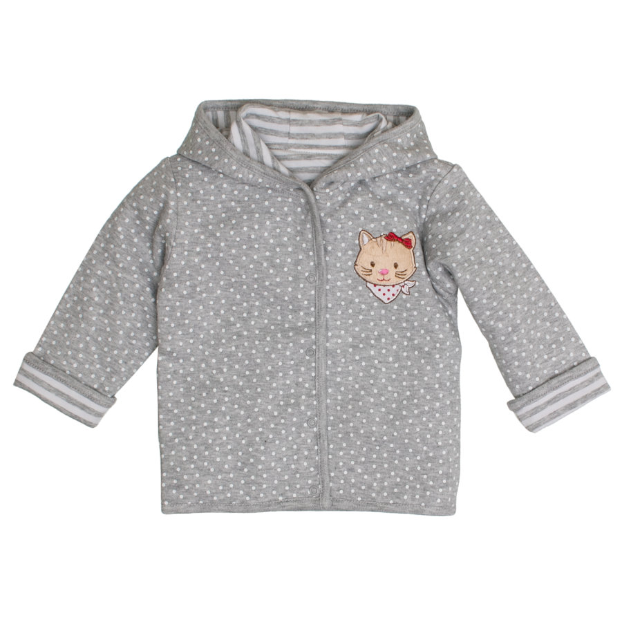 SALT AND PEPPER Baby luck Girl s sweatjasje allover grijs melange