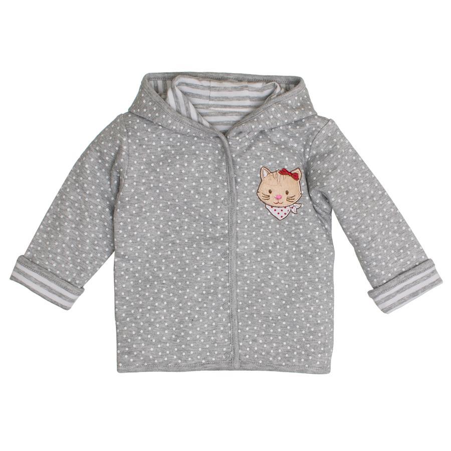 SALT AND PEPPER Suerte Girl de bebé s chaqueta de sudadera en todo gris mélange