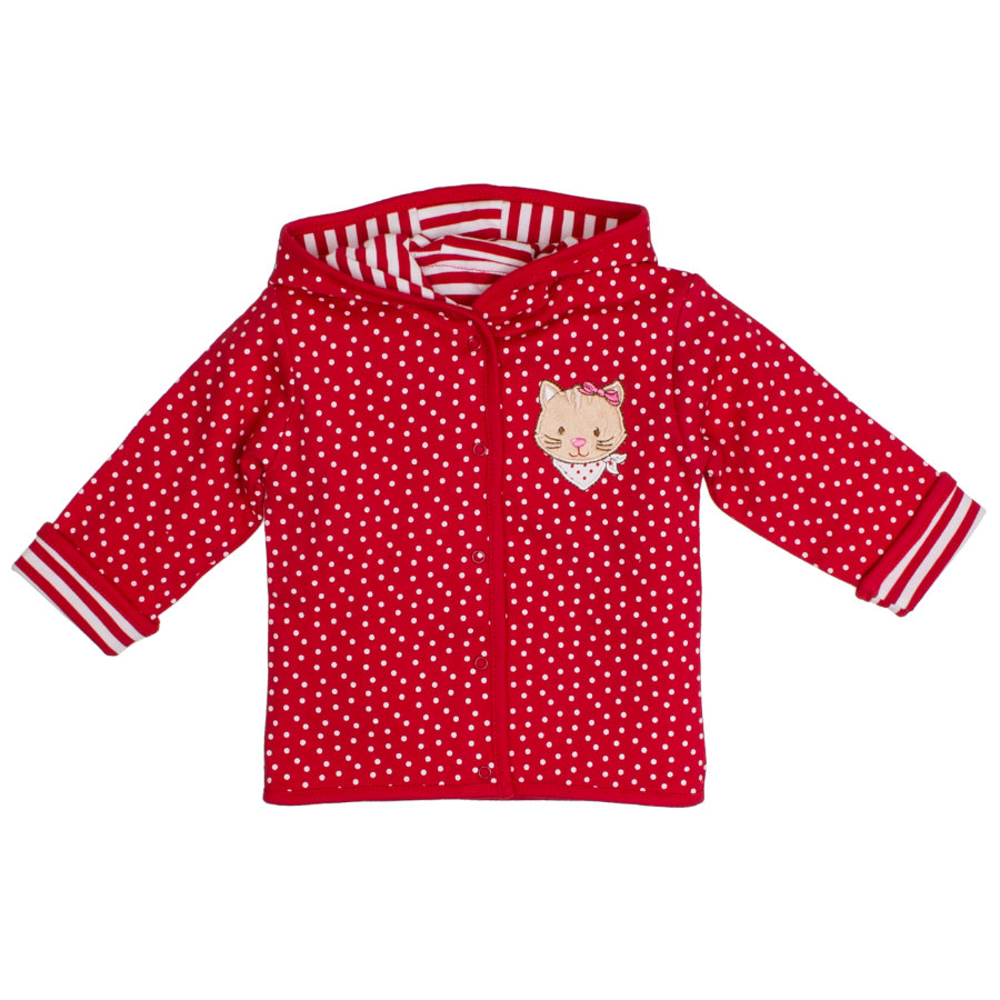 SALT AND PEPPER Felpa bebé Girl luck s sweat jacket allover rosso ciliegia