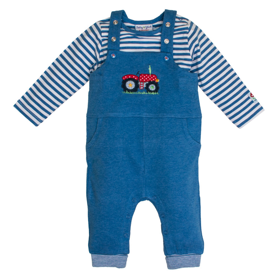 SALT AND PEPPER Latzhose Dungarees blue melange