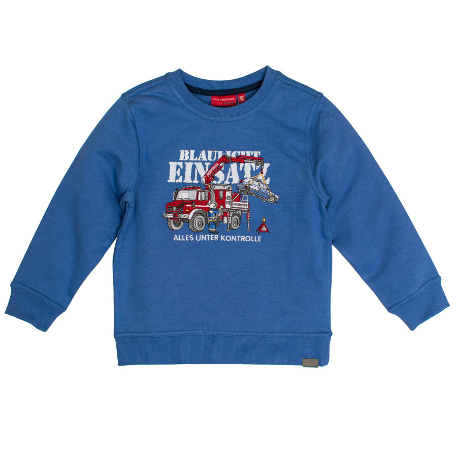 SALT AND PEPPER Boys Sweatshirt Fire Uni Stick blue melange