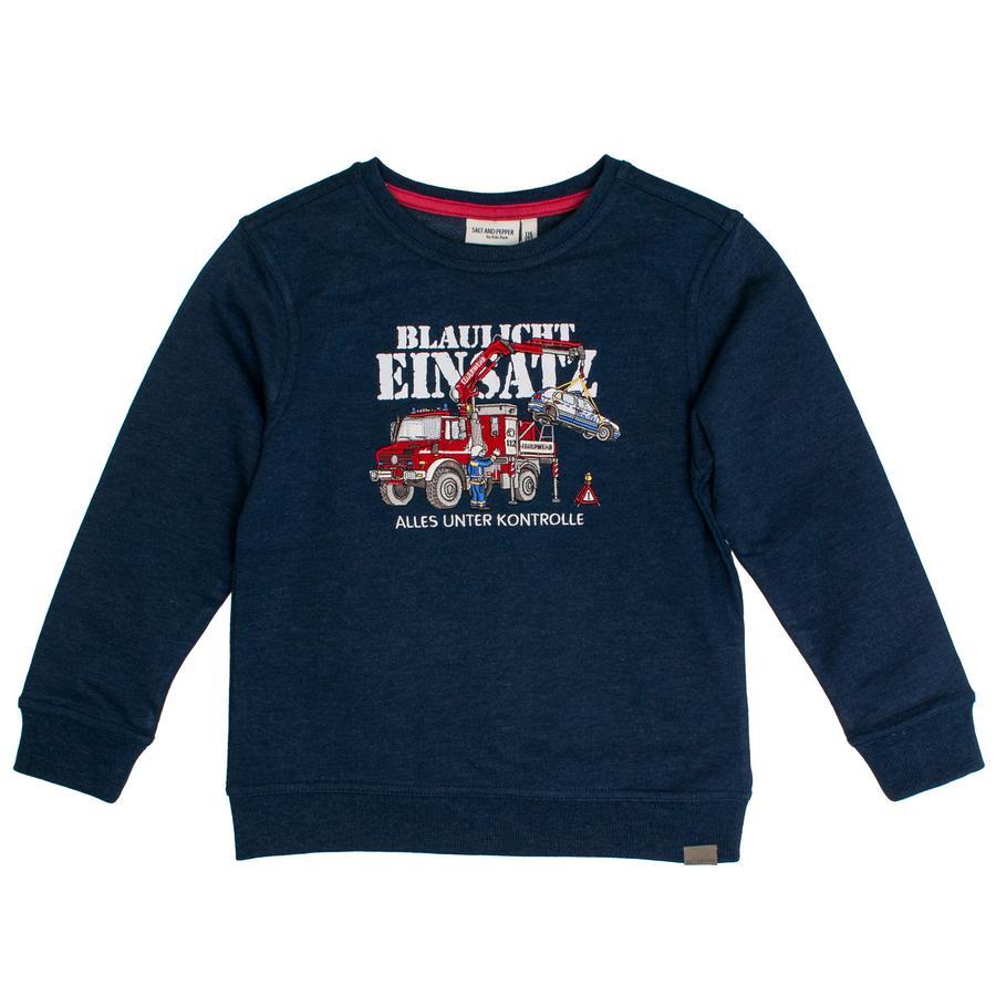 SALT AND PEPPER Boys Sweatshirt Fire Uni Stick ink blue melange