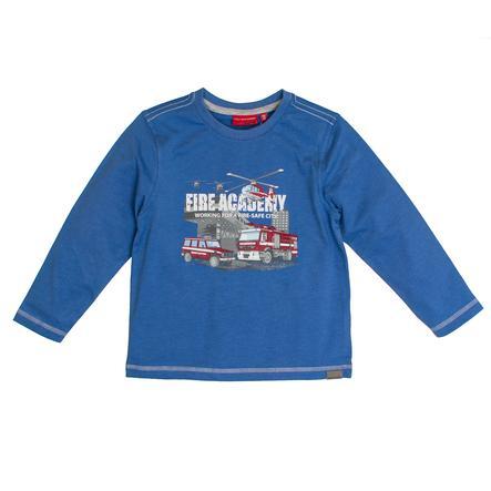 SALT AND PEPPER Overhemd met lange mouwen Vuur uni print blauw melange