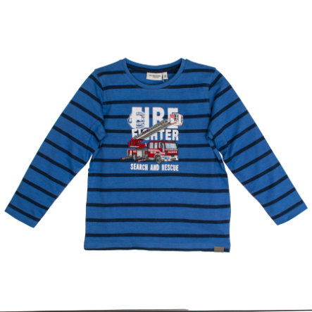 SALT AND PEPPER Shirt met lange mouwen Girl s Vuurstrepen blauw melange