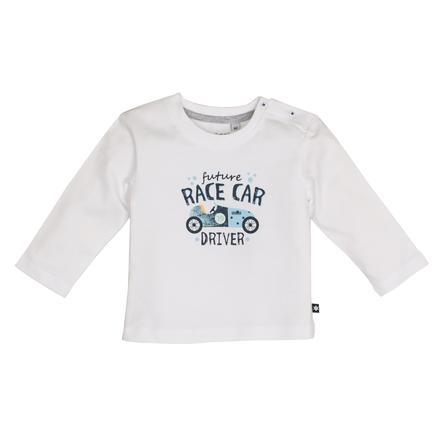 SALT AND PEPPER Boys Koszula z długim rękawem gotowa do druku uni-druku biała
