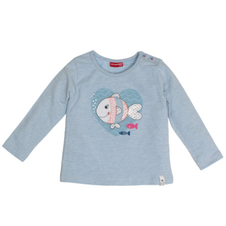 SALT AND PEPPER Langarmshirt Fisch pastel blue