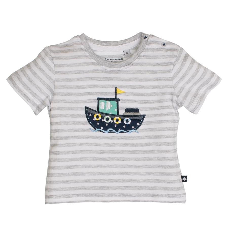 SALT AND PEPPER T-Shirt Boot streifen light grey melange