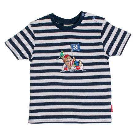 SALT AND PEPPER Boys T-Shirt Pirat stripes blue melange