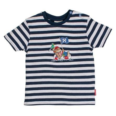 SALT AND PEPPER Boys T-Shirt Piratenstrepen blauw melange