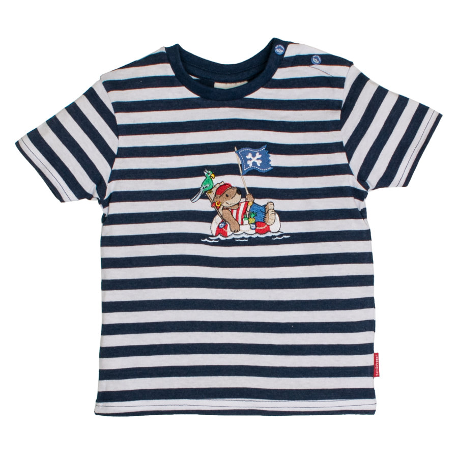 SALT AND PEPPER Boys T-Shirt Pirata rayas azul mélange