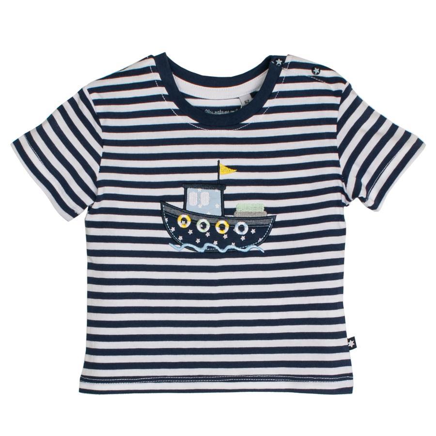 SALT AND PEPPER T-Shirt Boot stripe navy