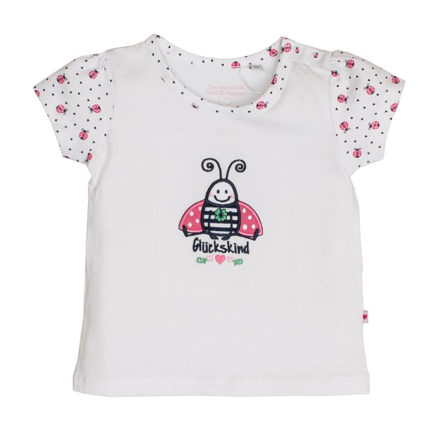 SALT AND PEPPER T-Shirt Suerte uni escarabajo blanco