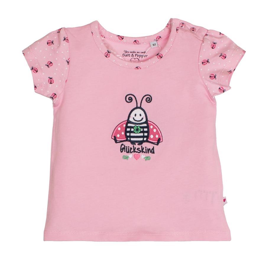 SALT AND PEPPER T-Shirt Glück scarabée uni rose clair
