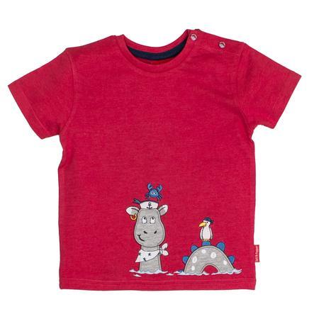 SALT AND PEPPER Boys T-Shirt Piraat uni Kapitein rood melange