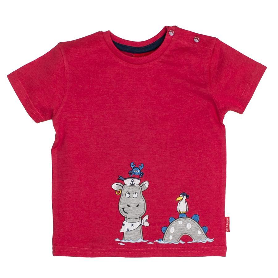 SALT AND PEPPER Boys T-Shirt Pirata uni Capitán rojo mélange