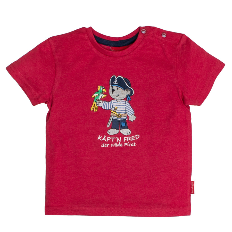 SALT AND PEPPER Boys T-Shirt Kapitan Fred Red.