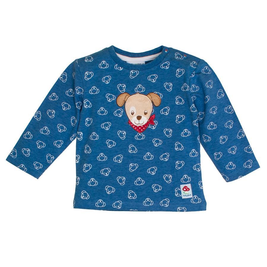 SALT AND PEPPER Koszulka z długim rękawem dla niemowląt z niebieskim melanżem na całej długości.