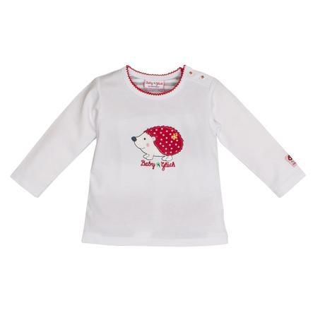 SALT AND PEPPER Baby luck shirt met lange mouwen egel wit