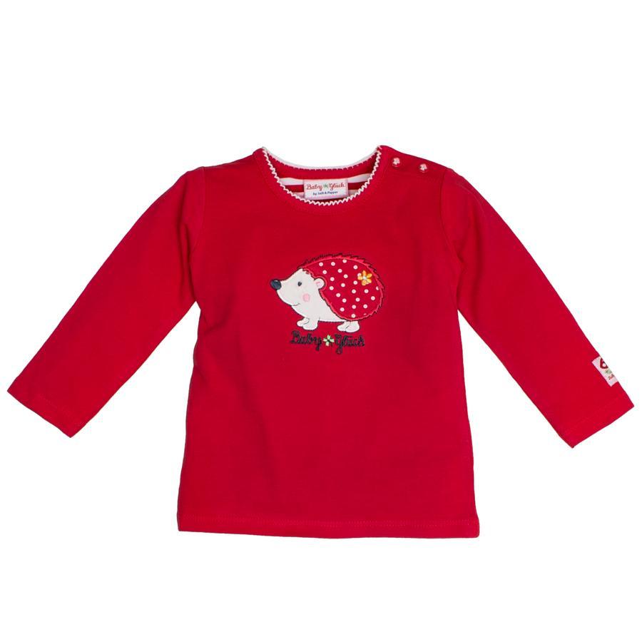 SALT AND PEPPER Dziecko szczęście koszula z długim rękawem koszula jeżyk wiśniowy czerwony