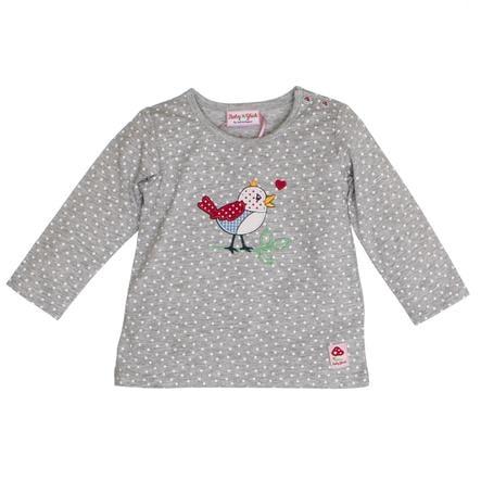 SALT AND PEPPER Szczęście dla dziecka Koszula z długim rękawem na całej długości ptasiej szarej melanży.