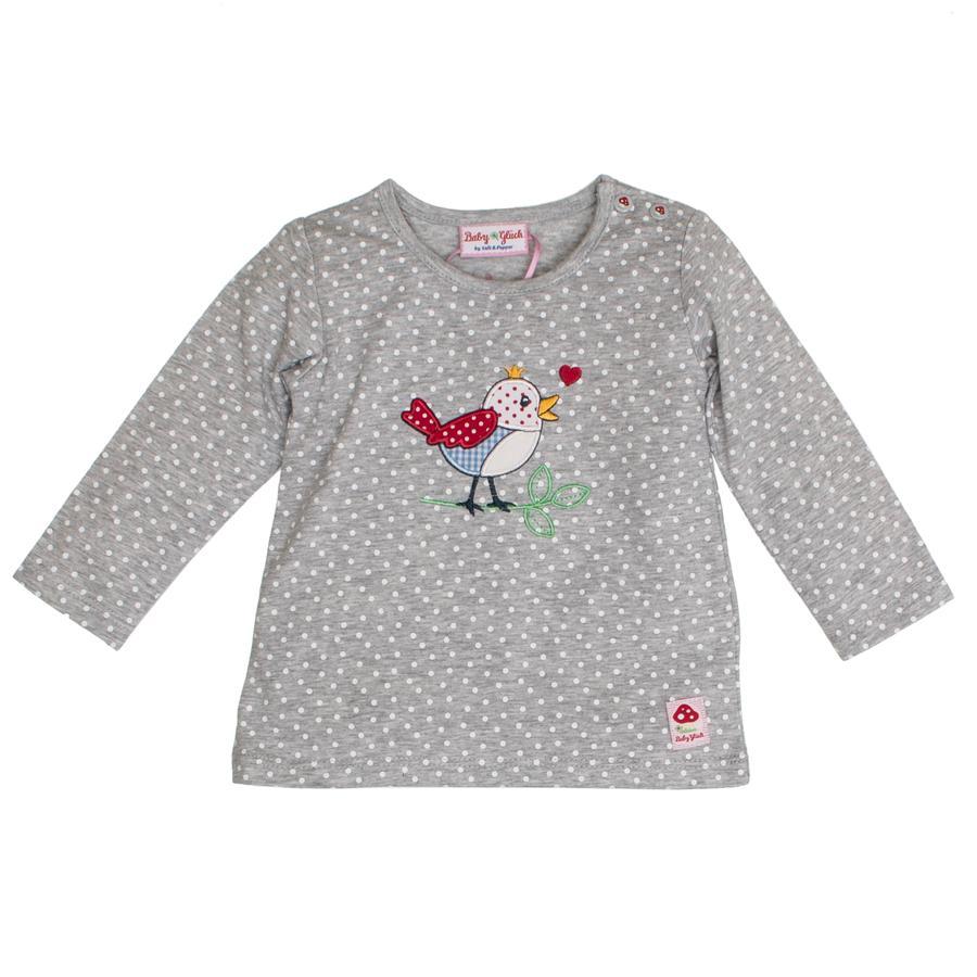 SALT AND PEPPER Vauvan onnea pitkähihainen paita allover lintu harmaa melange
