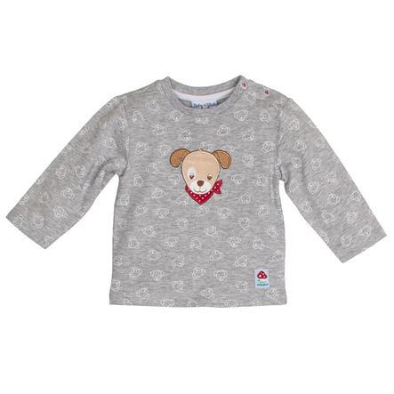 SALT AND PEPPER Baby luck shirt met lange mouwen allover grijs melange