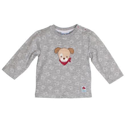 SALT AND PEPPER Szczęście dziecka Koszula z długim rękawem i szarym melanżem na całej długości.