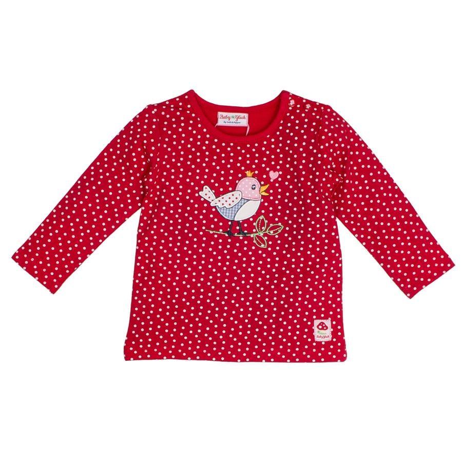 SALT AND PEPPER Baby luck shirt met lange mouwen allover vogel kersenrood
