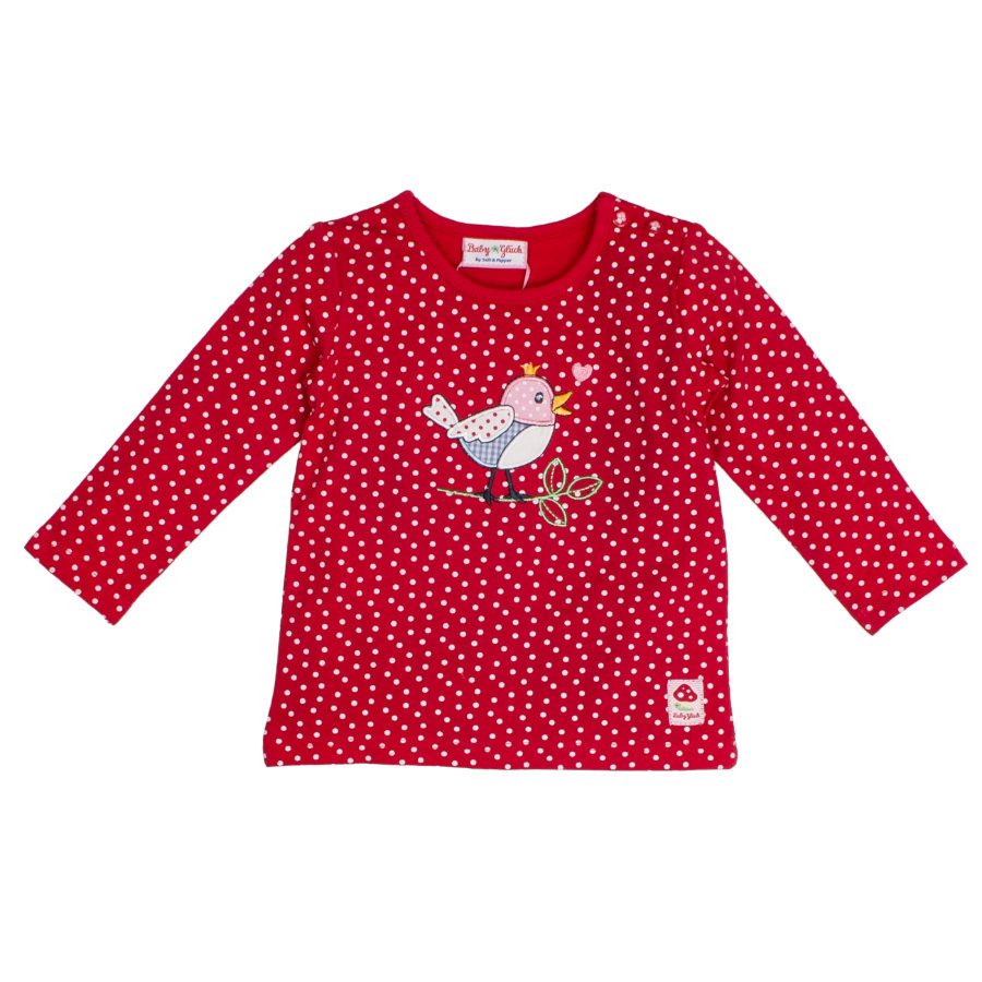 SALT AND PEPPER BabyGlück Langarmshirt allover Vogel cherry red