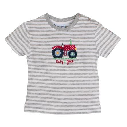 SALT AND PEPPER BabyGlück Boys T-Shirt Traktor stripe grey melange