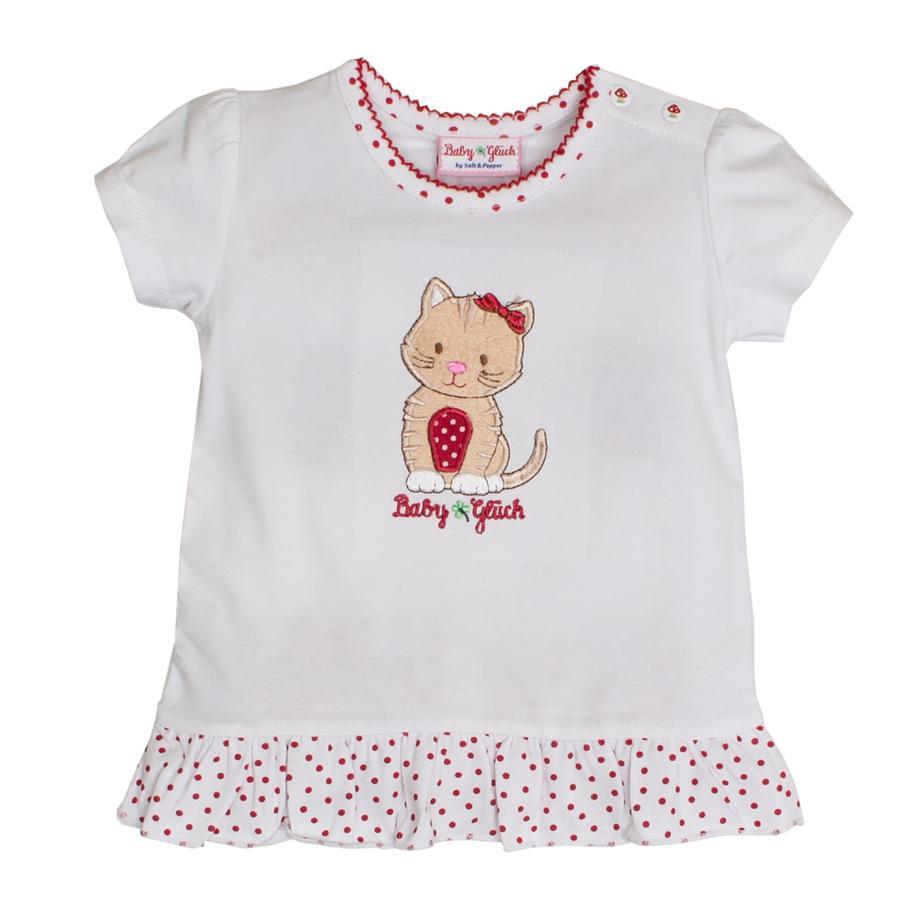 SALT AND PEPPER BabyGlück Girls T-Shirt Rüschen white