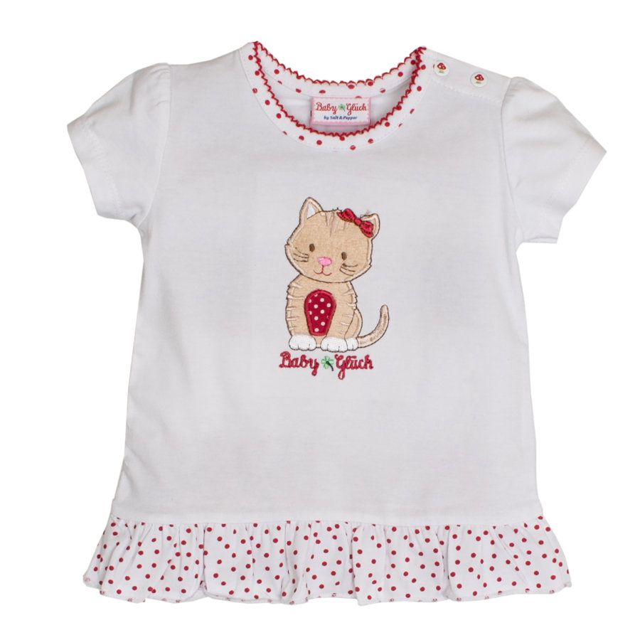 SALT AND PEPPER Bébé Girl chanceux s T-Shirt froufrous blanc