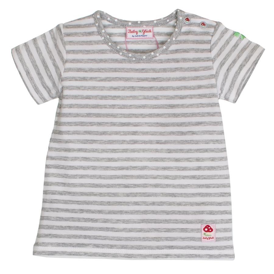 SALT AND PEPPER BabyGlück Girls T-Shirt stripe grey melange