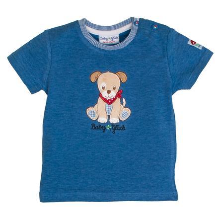 SALT AND PEPPER Baby T-Shirt gelukshond blauw melange