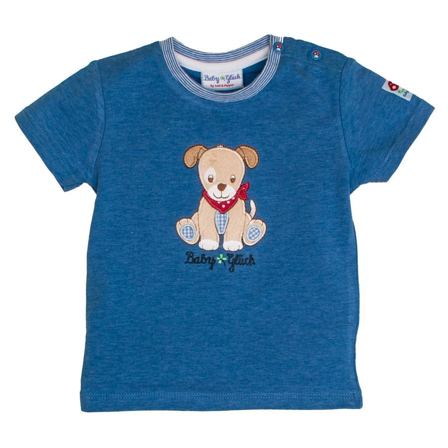 SALT AND PEPPER Dziecko T-Shirt szczęście pies niebieski melange