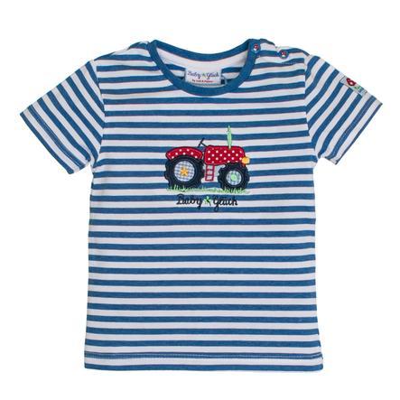 SALT AND PEPPER BabyGlück Boys T-Shirt stripe Traktor blue melange