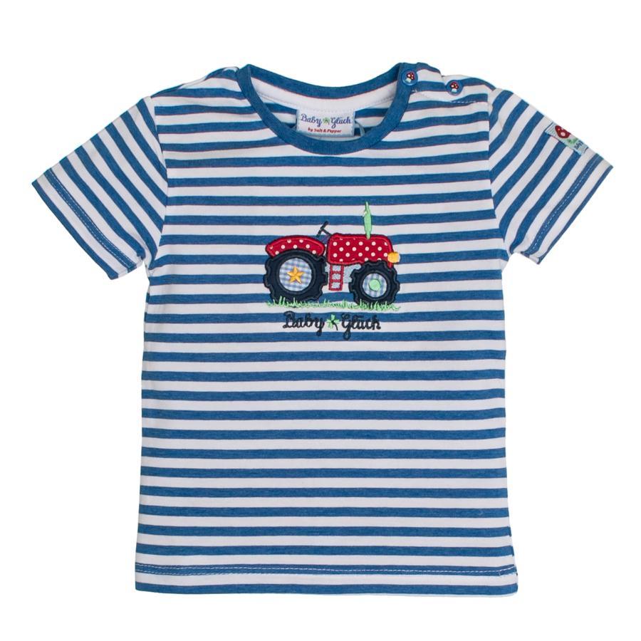 SALT AND PEPPER Baby Luck Boys T-Shirt Stripe traktor niebieski melange
