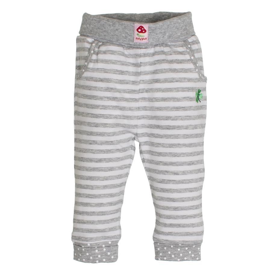 SALT AND PEPPER  BabyGlück Girls Běžecké kalhoty pruhované šedé melanžové