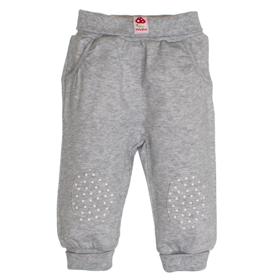 SALT AND PEPPER Baby Girl luck s pantalones de chándal parches gris mélange