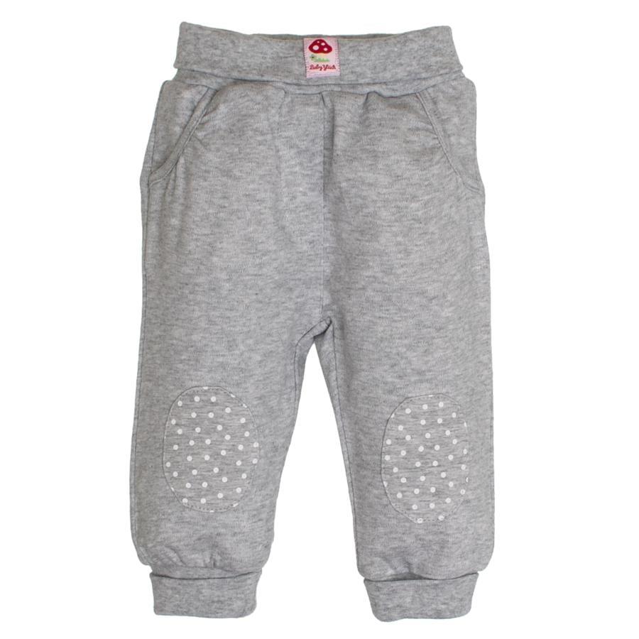 SALT AND PEPPER BabyGlück Girls Jogginghose patches grey melange