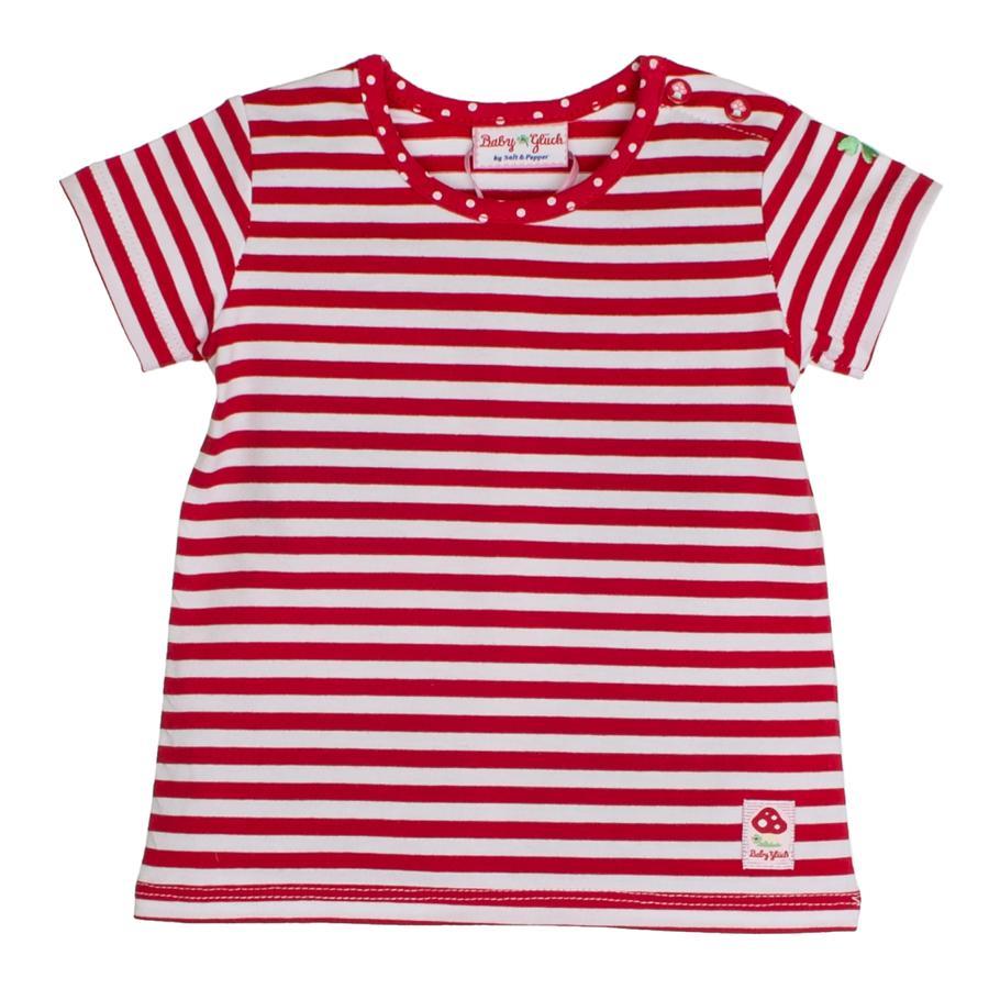 SALT AND PEPPER BabyGlück Girls T-Shirt stripe cherry red