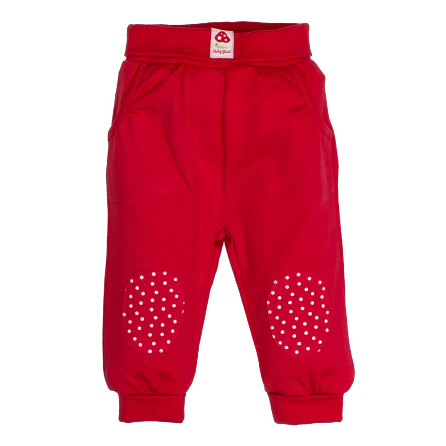 SALT AND PEPPER BabyGlück Girls Jogginghose patches cherry red