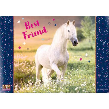 """COPPENRATH Schreibtischauflage """"Best Friend"""" Pferdefreunde"""