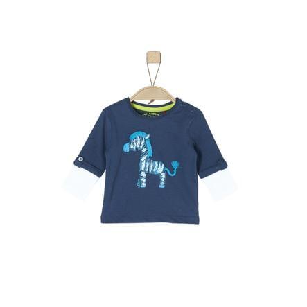 s.Oliver Boys Chemise manches longues bleu foncé