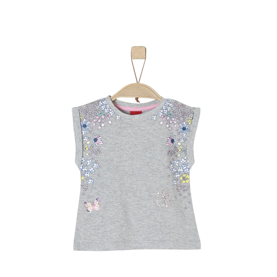 s.Oliver Girls T-Shirt light grey melange